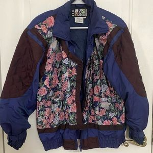 Thrifted bomber jacket